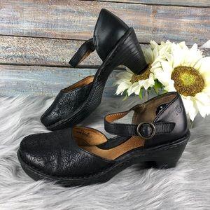 Born Mary Jane Style black Strappy Heels Sz 8.5
